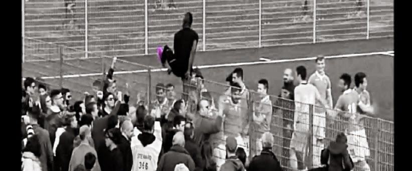 L'esultanza a fine gara dei ragazzi di Inzaghi, in coincidenza dello 0:3 di Oikonomidis. fotosportnotizie.com