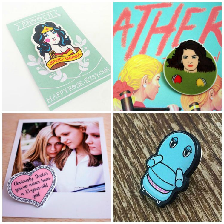 A Vintage Nerd Brooches Pop Culture Brooches Vintage Blog
