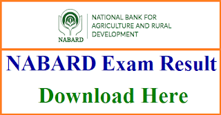 NABARD Grade a result 2018 for Assistant Manager Main Result 2018