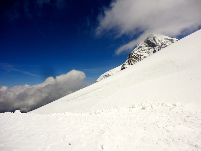 Snowy scenery at the top of Jungfrau, Switzerland