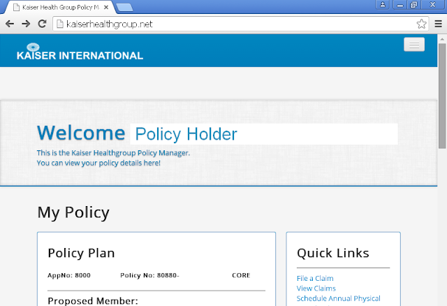 Kaiser Online Policy Management System