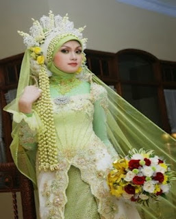 gaun pengantin muslim cantik