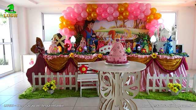 Decoração A Bela Adormecida - Aurora - Aniversário infantil