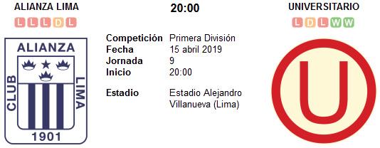 Alianza Lima vs Universitario en VIVO