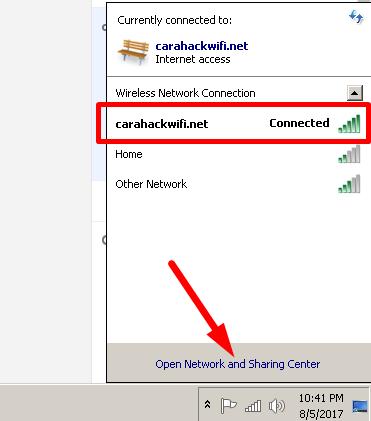 terhubung dengan wifi