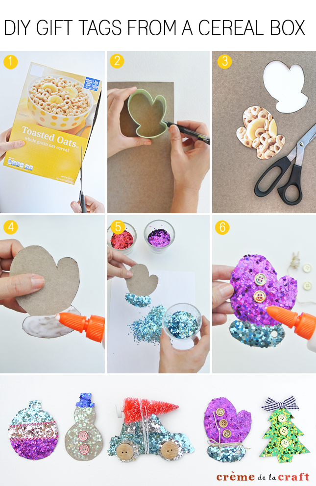 Diy Holiday Gift Tags From Cereal Boxes Video Tutorial