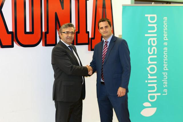 Quirónsalud nuevo patrocinador oficial del Baskonia