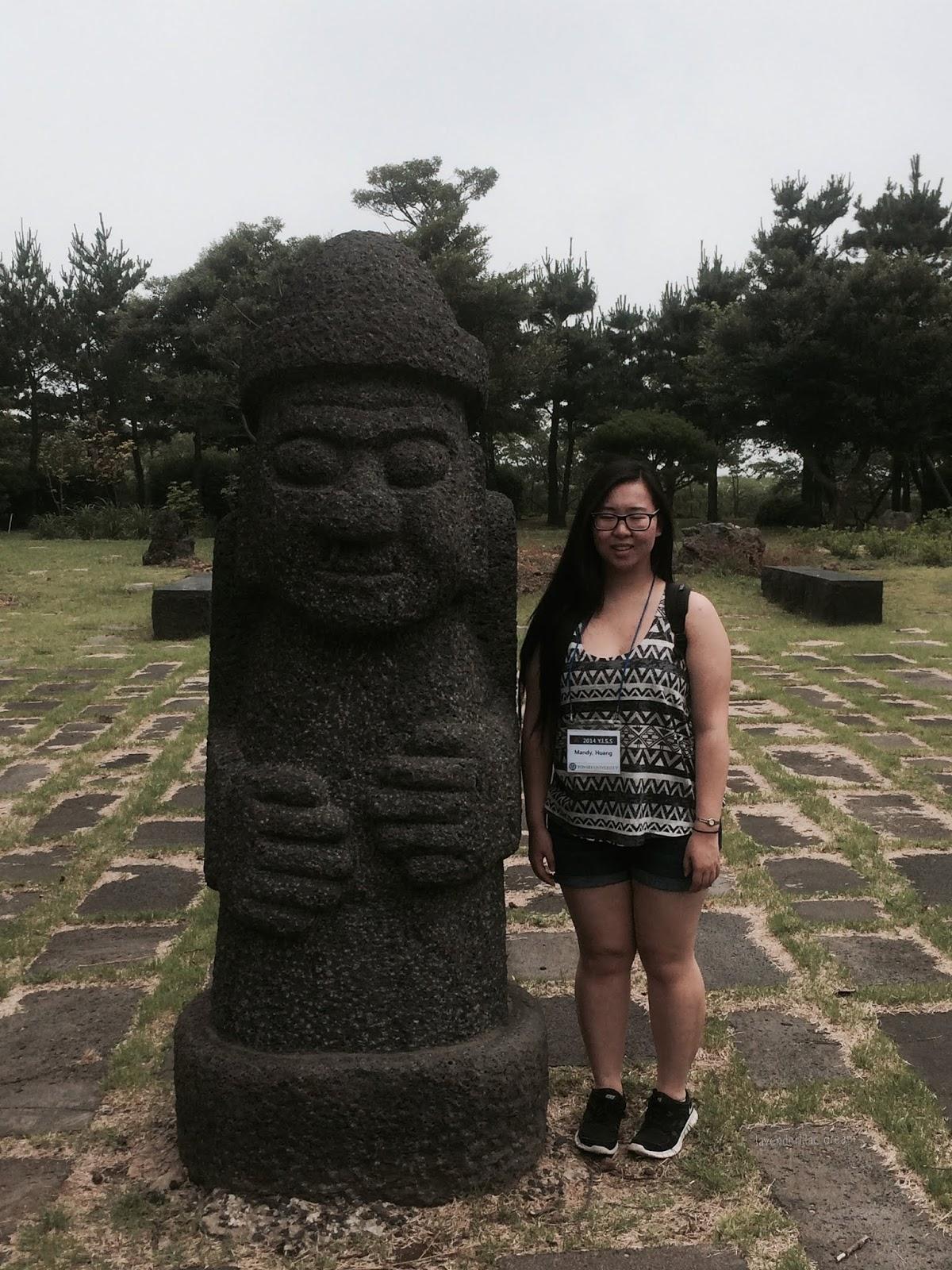 South Korea, Jeju Island, Yonsei University, YISS 2014, April 3 Peace Park, Dol Hareubang