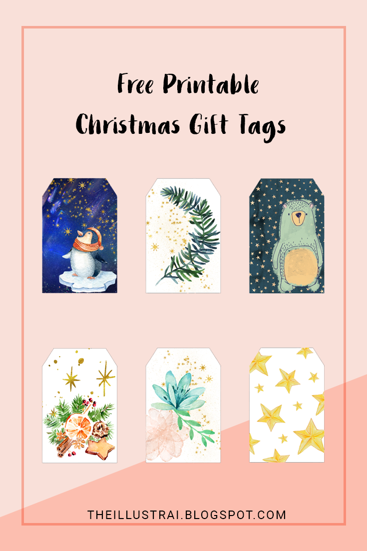 Download 6 different free printable Christmas gift tags to adorn your gifts this holiday season.