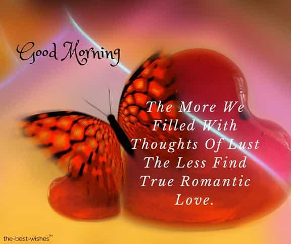 good morning my love with butterfly