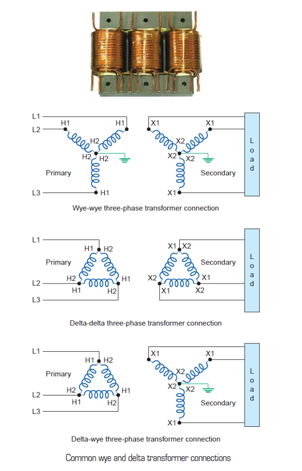 Common Wye and Delta Transformer Connections  EEE COMMUNITY