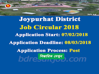 Joypurhat District  Union Parishad Secretary Job Circular 2018