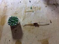LED module and 100 KOhm resistor