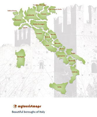 beautiful boroughs in Italy map