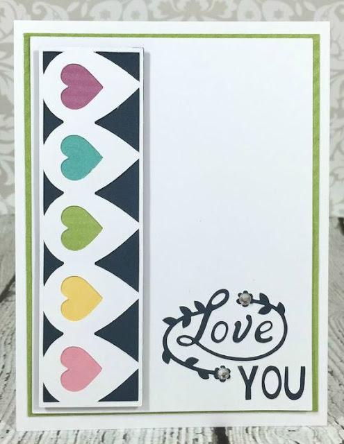 Cricut Artistry Heart Border card