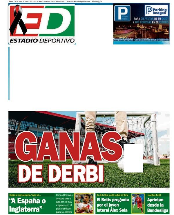 """Estadio Deportivo: """"El Betis pregunta por el joven lateral Álex Sola"""""""