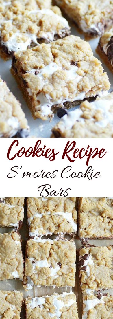 S'mores Cookie Bars #desserts #cakerecipe