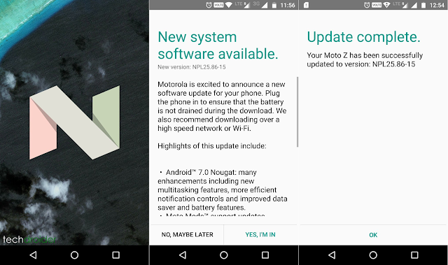 Android 7.0 Nougat update starts hitting Motorola Moto Z in India