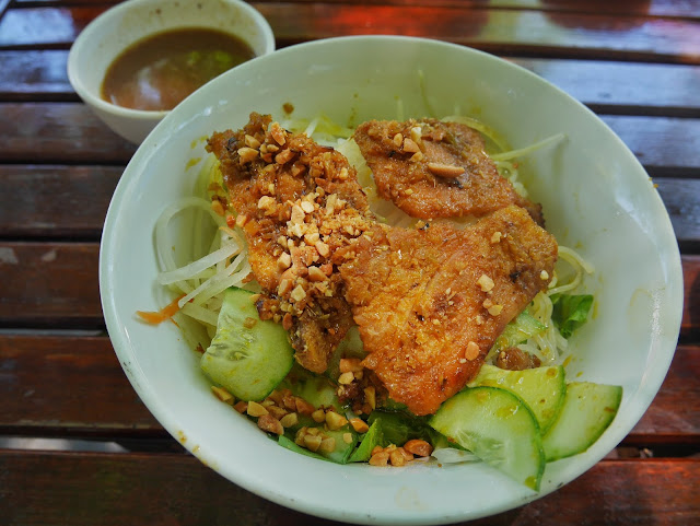 Bun thit nuong or grilled pork noodle of Vietnam