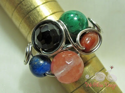 Wire wrap fruity ring around the mandrel