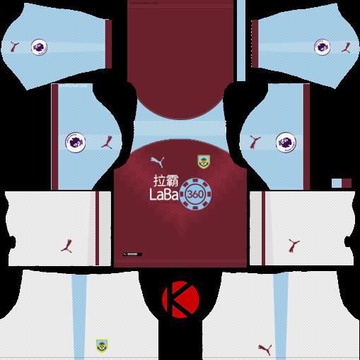 ffa4ea51e0f Burnley FC 2018/19 Kit - Dream League Soccer Kits - Kuchalana