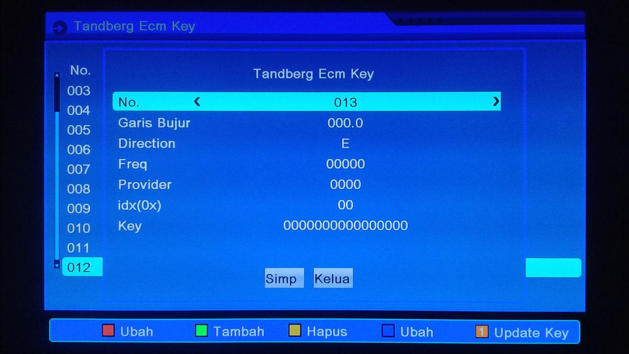 Cara Input Key Tanberg ke Matrix Burger S1 Mini