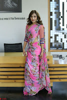 Actress Angela Krislinzki in Pink Saree Blouse Exclusive Pics March 2017 ~  126.JPG