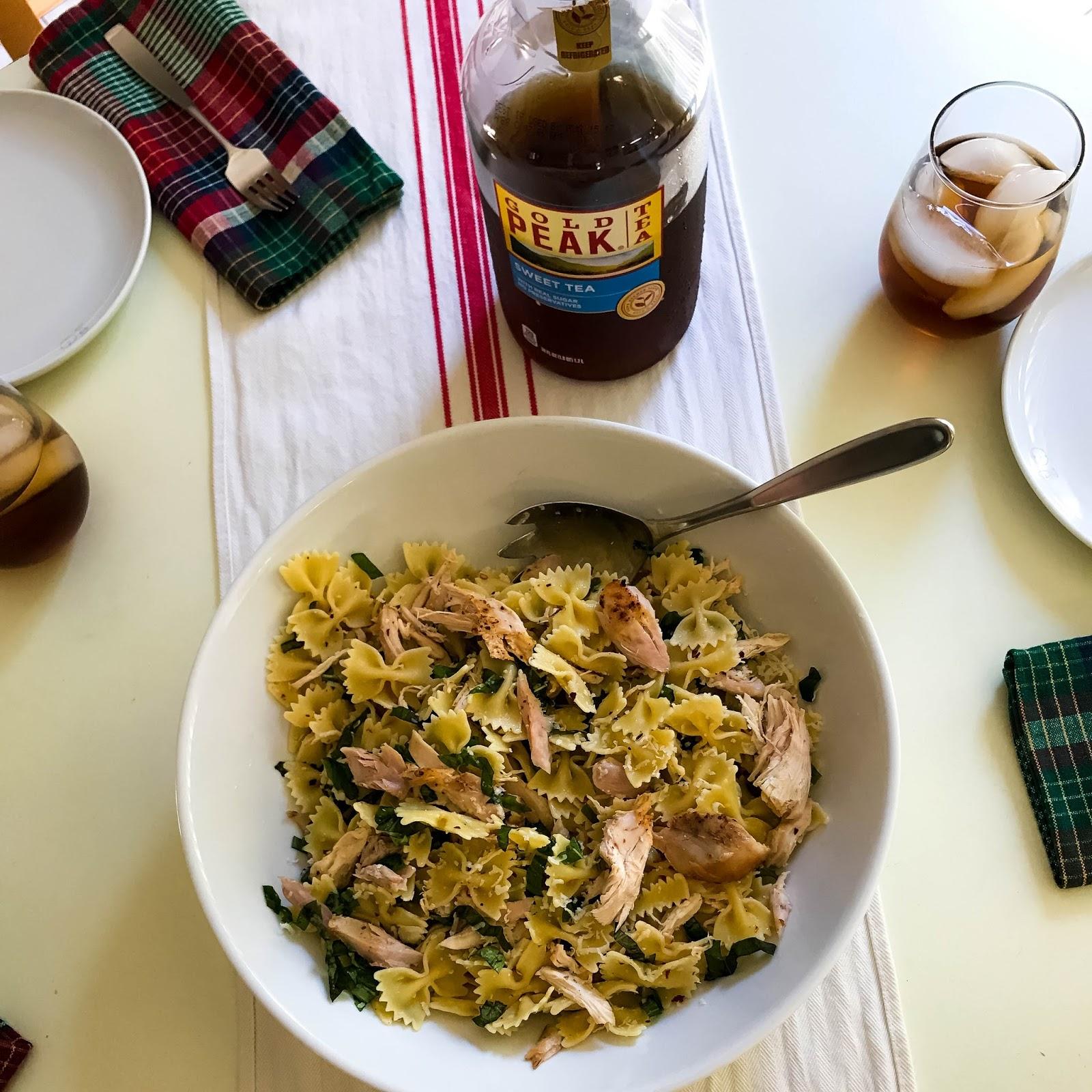 Basil Chicken Pasta Salad