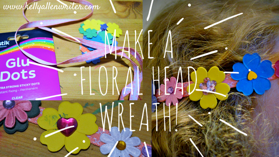 'Make a Floral Head Wreath' with photos of each stage.