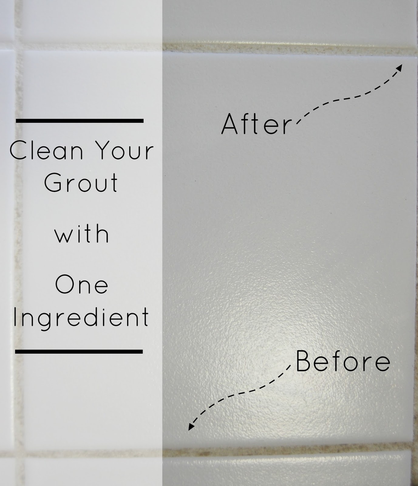 One Ingredient Grout Cleaner