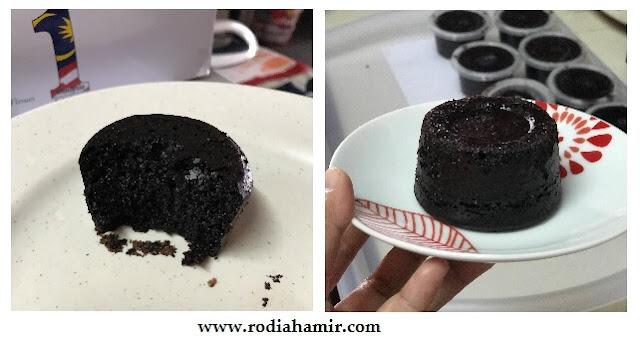 Kek Coklat Kukus mudah