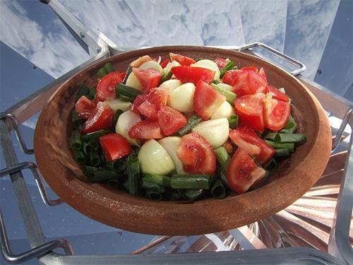 Exemple de recette avec un four solaire
