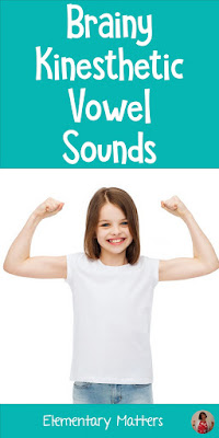 Brainy Kinesthetic Vowel Sounds: Here are some movement tricks to help the children remember the short vowel sounds.