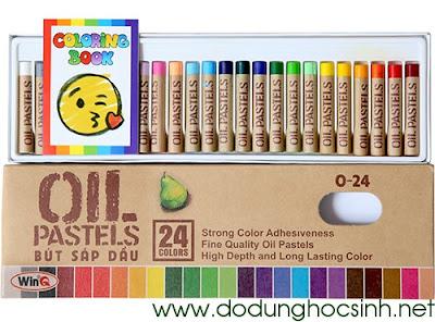 Bút sáp dầu 24 màu O-24 (WinQ)