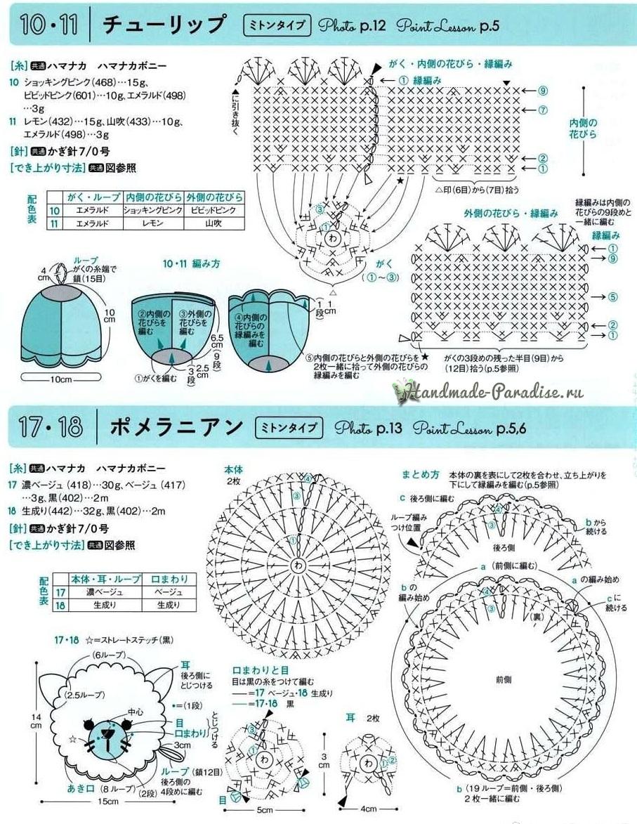 Схемы вязания детских подвесок и брелочков (4)