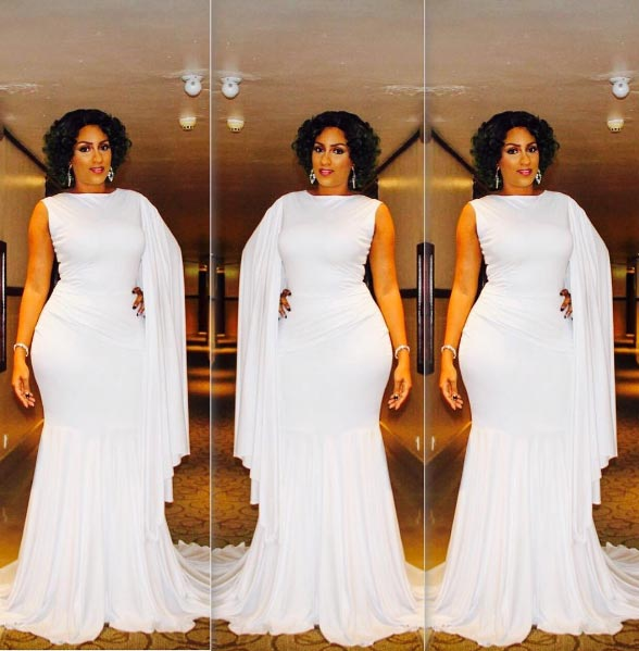 Juliet Ibrahim slays in white gown as she hosts Miss Nigeria Beauty Queen pageant