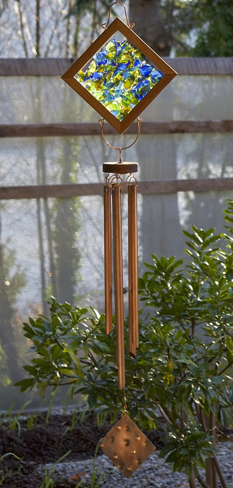 Coast Chimes Kaleidoscope Glass and Copper Wind Chime