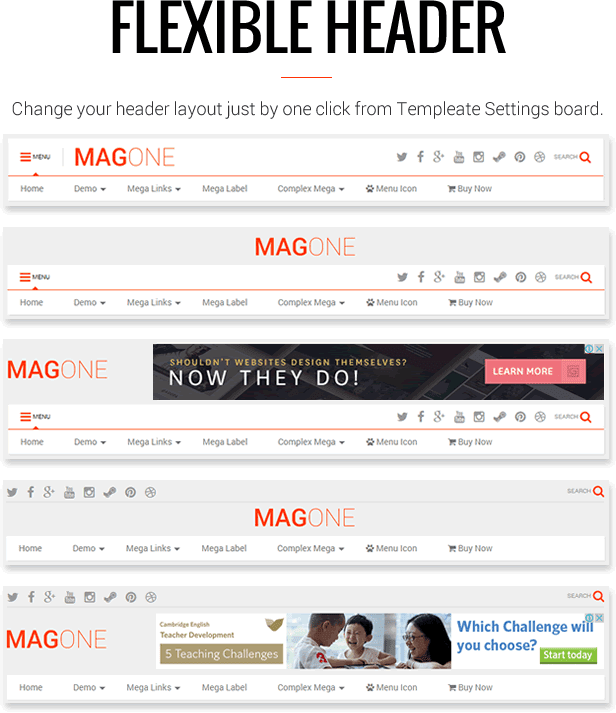 Template MagOne - Responsive News & Magazine Blogger Template Blogging