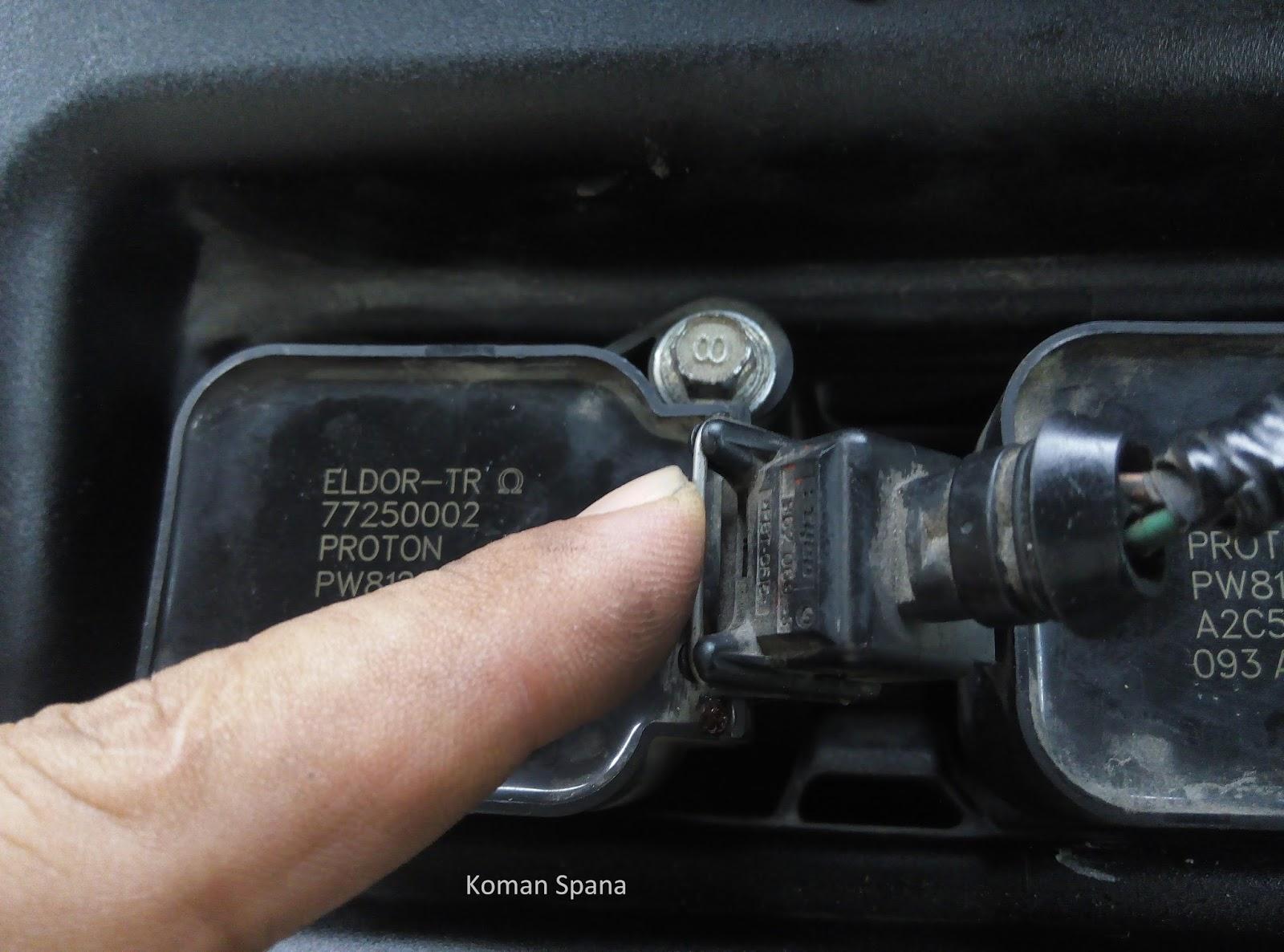 D I Y  SERBAMANEKA: Ganti Spark Plug Proton Saga BLM Cara Koman