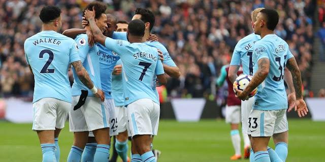 Video Cuplikan Gol Manchester City 4-1 West Ham   Liga Inggris Pekan 36