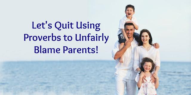 Let's Quit Giving Parents Unfair Credit or Blame