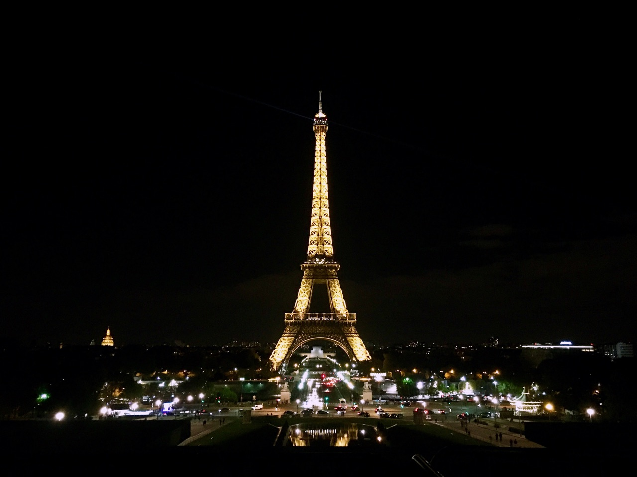 Eiffel Tower at Night, from Trocadero, Paris