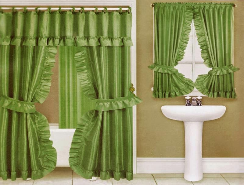 Curtain Ideas Double Swag Shower Curtain With Matching Window Curtains