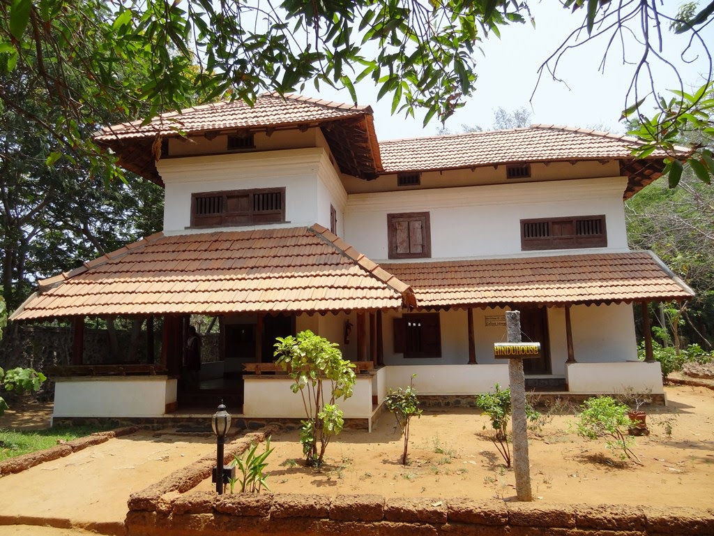 Dakshinachitra a glimpse of traditional homes from south for Traditional indian house designs