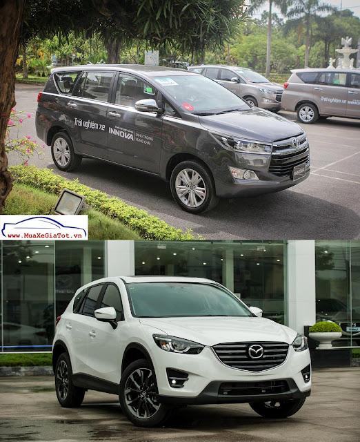 So sánh Toyota Innova 2.0V 2016 và Mazda CX-5