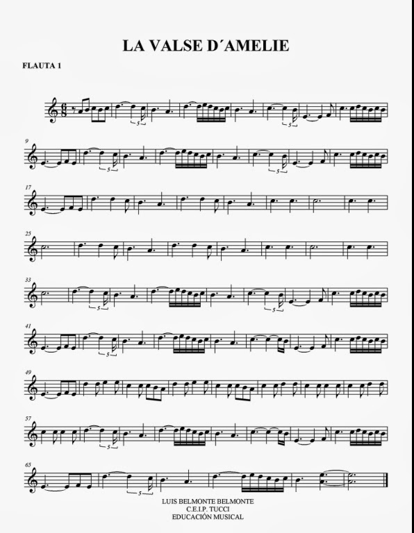 amelie accordion sheet music pdf