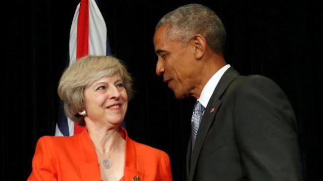 英國首相會見美國總統