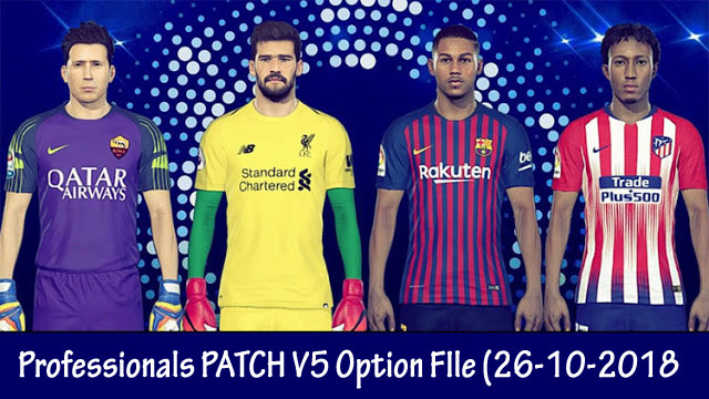 a91855b91 PES 2017 PES Professionals Patch v5 Option File (26-10-2018)