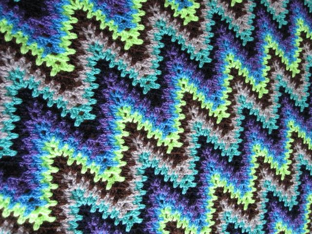 Crochet Stitches Free Patterns - Zigzag Or Heartbeat Ripple crochet Stitch - Wider Zigzag