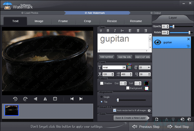Download Watermark Software 7.0 Legal License Gratis